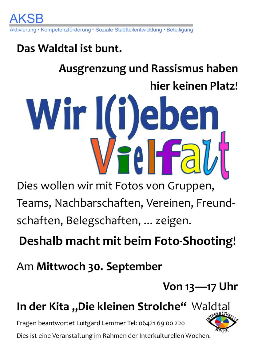 Einladung AKSB Fotoshooting Wir lieben Vielfalt 20 08 26