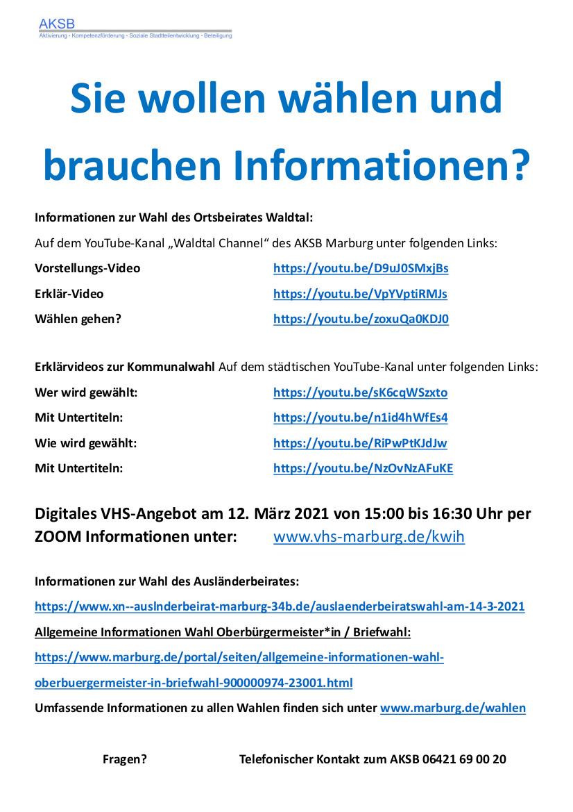 Wahlen Marburg Homepage II 21 03 05