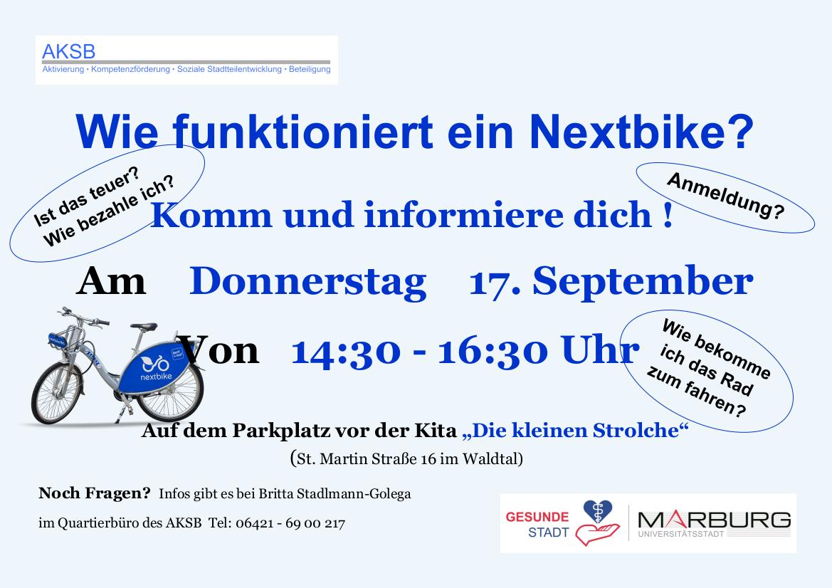 Nextbike Infoveranst. Nachholtermin ÖA 20 09 04